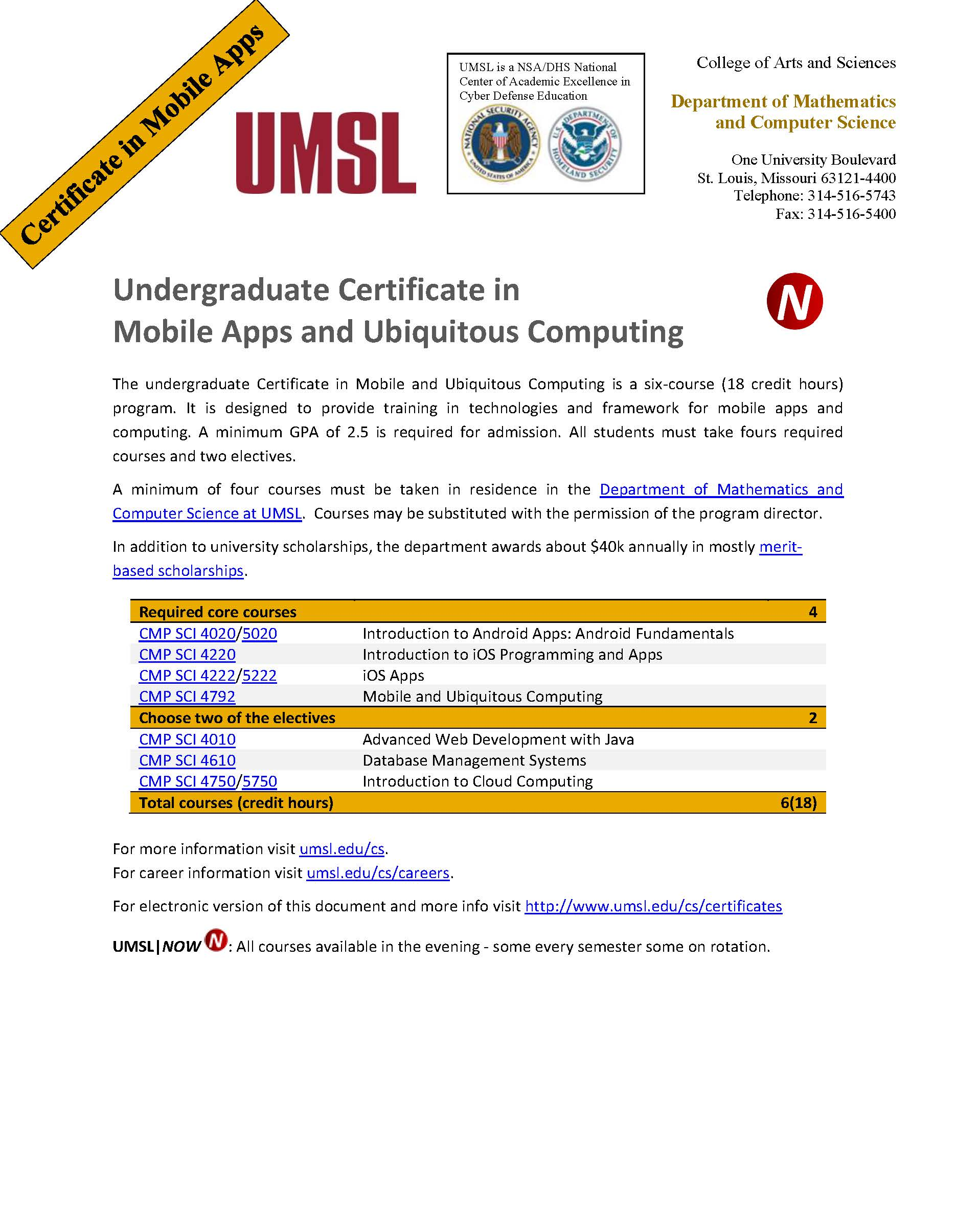Certificate In Mobile Apps And Ubiquitous Computing