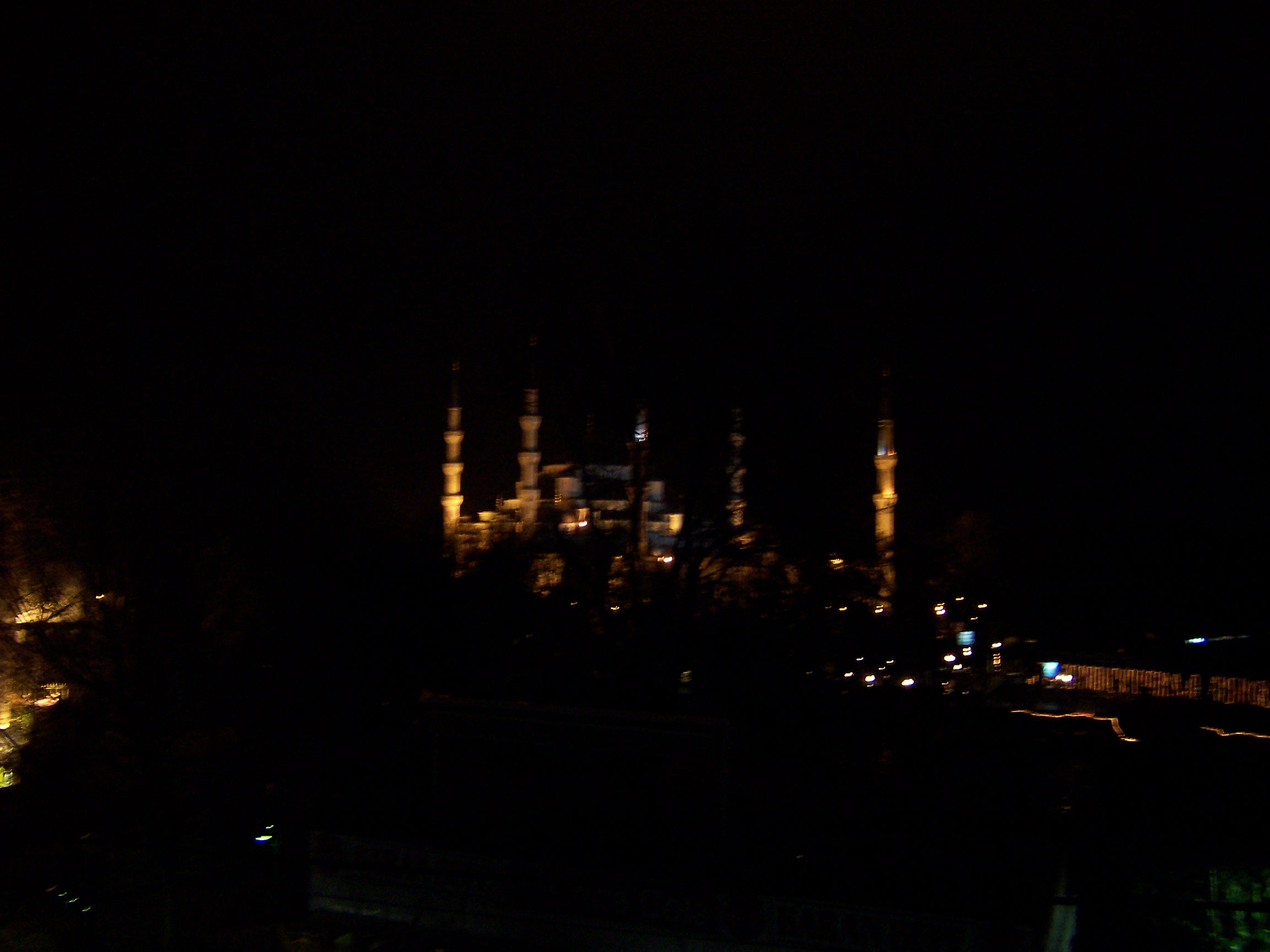 Window at night from outside - Night View Outside My Hotel Window Of Blue Mosque