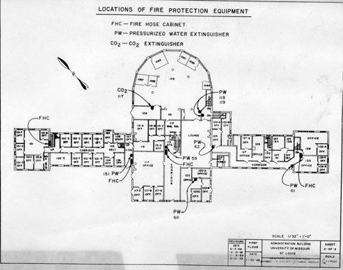 Administration-Building-fire-safety-plan,-1968 Golf Course Club House Floor Plans on golf course clubhouse design, golf course design plans, golf course floor plans, golf course home exteriors tuscan style,