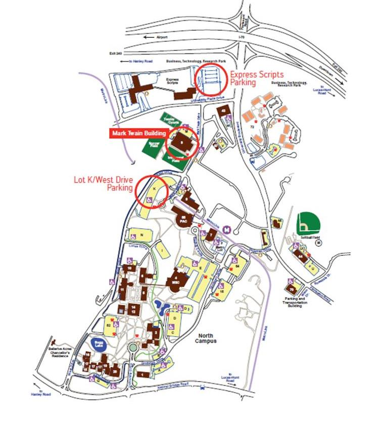 umsl south campus map Maps Parking umsl south campus map