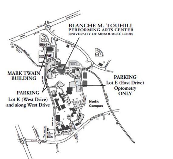 university of missouri st louis campus map Parking And Building Maps university of missouri st louis campus map