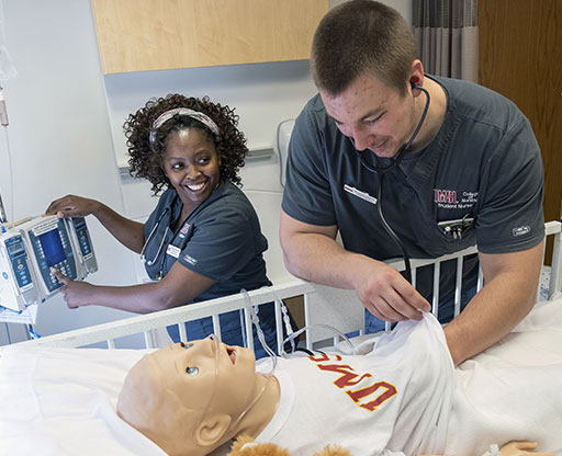 College of Nursing students at work