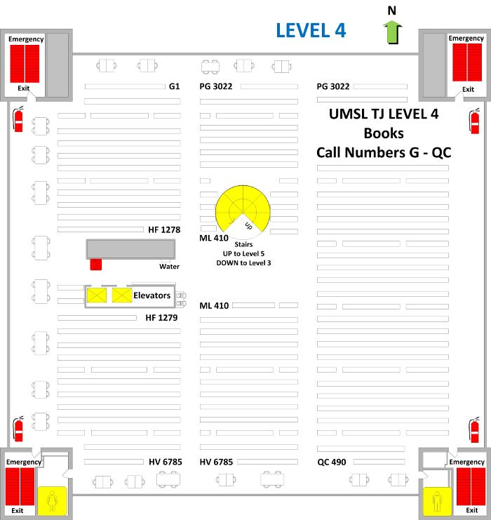 Thomas Jefferson Library Level 4 Floor Plan