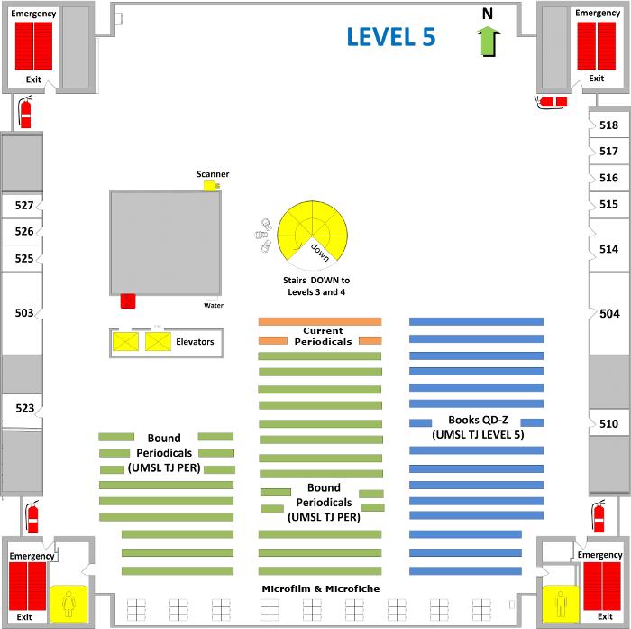 Thomas Jefferson Library Level 5 Floor Plan